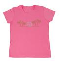 Womens Bright Palms Tee, Pink XXL