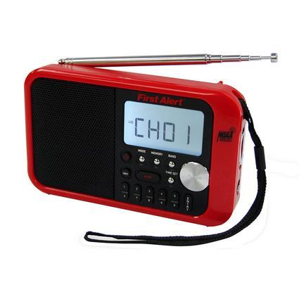 First Alert AM/FM Weather Band Clock Radio with Weather Alert