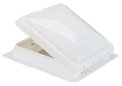 One-Piece Vent with 12V Fan - White