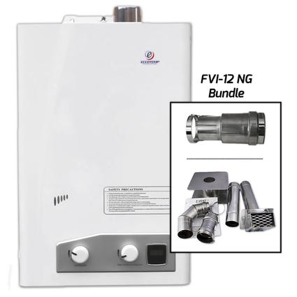 Eccotemp FVI12-NG Horizontal Bundle