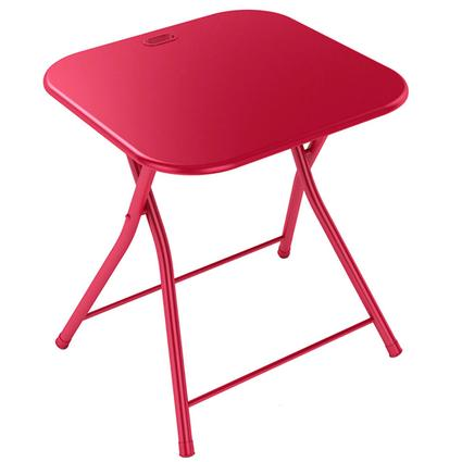 Red Folding Table with Handle