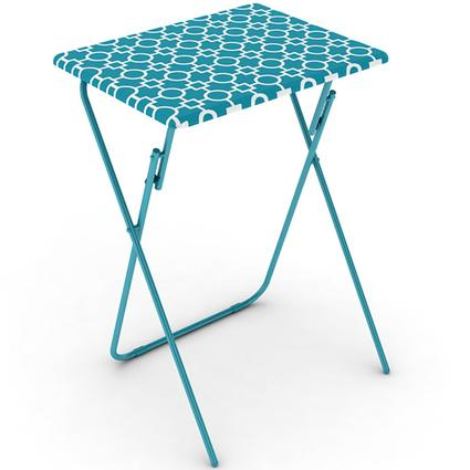 Blue Folding TV Tray Tables, 2 Pack