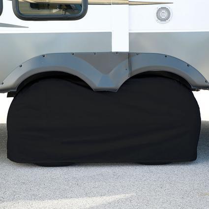 Elements Black Double Tire Cover, 30