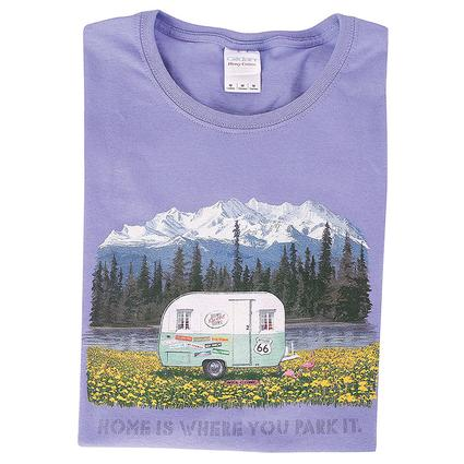 Home Is Where You Park It Vintage Trailer Tee, Medium
