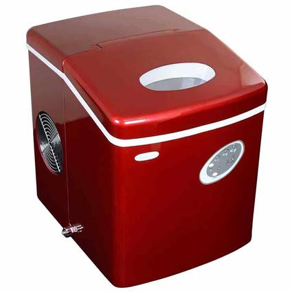 Red NewAir 50 lbs. Ice Maker