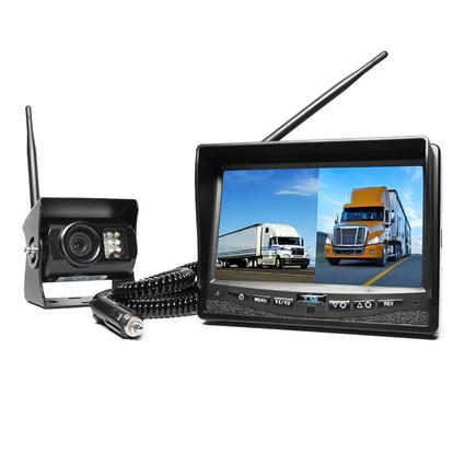Rear View Safety Wireless Backup Camera Dual Screen System