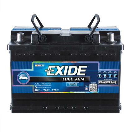 Exide Edge AGM Heavy-Duty RV/Marine Batteries, FP-AGML3/48DS