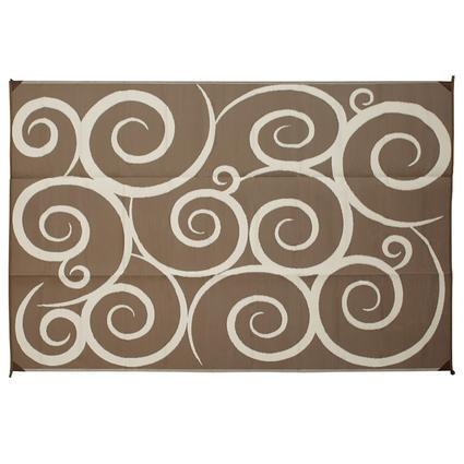 Reversible Swirl Design Patio Mats