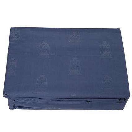 Navy Embossed Lantern Sheet Sets, Short Queen