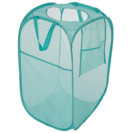 Folding Laundry Hamper, Teal
