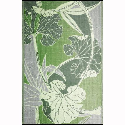 Blossom Green/Gray Reversible Outdoor Rug, 6 x 9