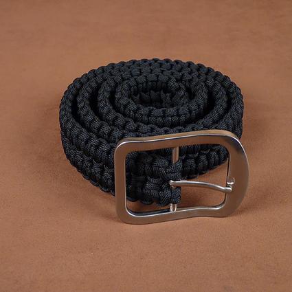 Black Paracord Survival Belt, Large