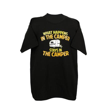 Mens In the Camper Tee, Black XL