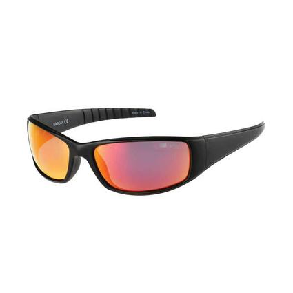 NASCAR Collection Sunglasses, Black Frames with Yellow/Orange Lenses