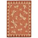Rust Dragonfly Terracotta Rug, 23
