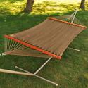 Double Caribbean Tight Weave Hammock, Brown - 13'