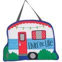 Livin' the Life Felt Door Hanger