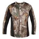Realtree Men's Long Sleeve Active Tee, Black, XXL