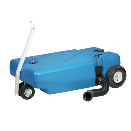 Barker 4-Wheeler Tote Tank with Pneumatic Wheels, 42 Gallon