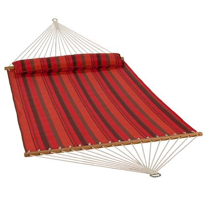 Quick Dry Hammock with Pillow, Sunset Stripe - 13'