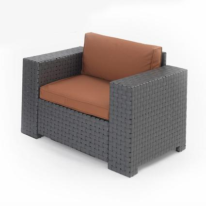 Portable Outdoor Wicker Chair - Mocha, 36