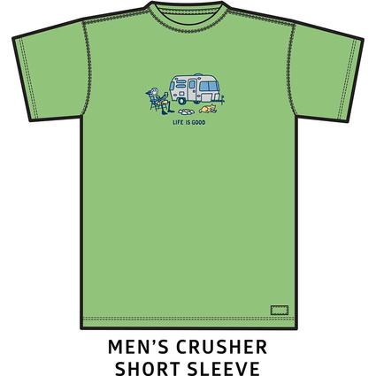 Men's Life Is Good Airstream Chill Crusher Tee, Fern Green, XL
