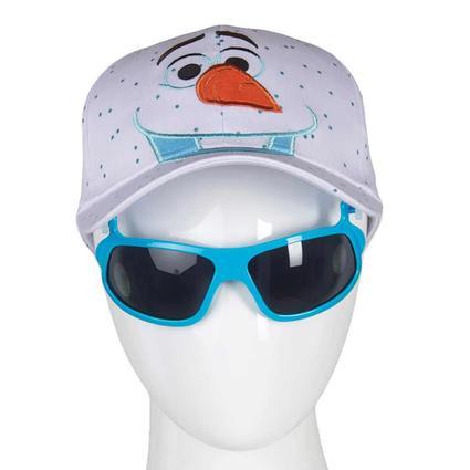 Disney Themed Kids' Sunglasses Hats, Big Face Olaf, White