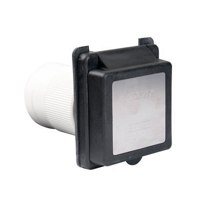 50A 125/250V Standard RV Power Inlet, Black