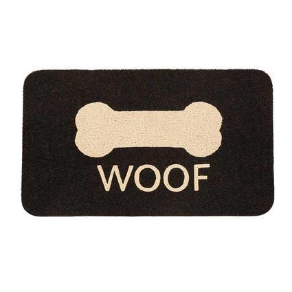 """Woof Doormat, 18"""" x 30"""""""