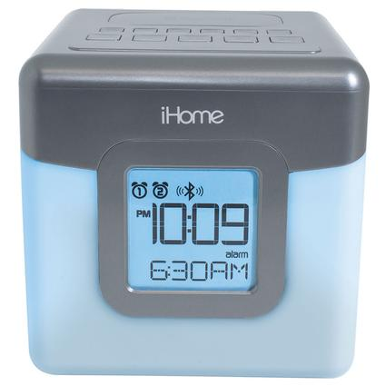 Color Changing Bluetooth Clock Radio and Dual Alarm