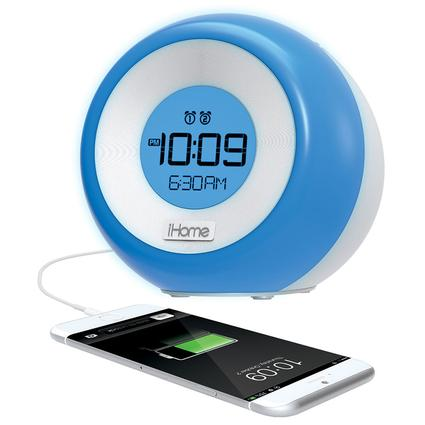 Color Changing Clock Radio and Dual Alarm with USB Charging