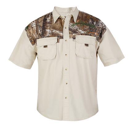 Realtree Men's Ripstop Camp Shirt, Silver Birch, XXXL