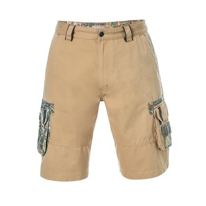 Realtree Men's Twill Cargo Short, Candied Ginger, 38x32
