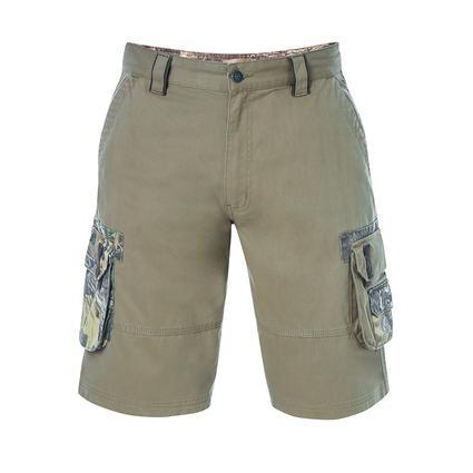 Realtree Men's Twill Cargo Short, Covert Green, 36x32