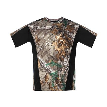 Realtree Men's Short Sleeve Active Tee, Black, Medium