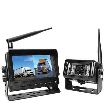 """Wireless Backup Camera System RVS-25W with 5"""" Dual Screen Display"""