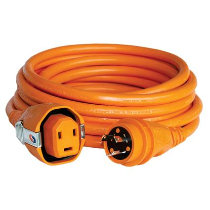 30 Amp 75' Dual Configuration Cordset with Twist-Type Connector, Orange