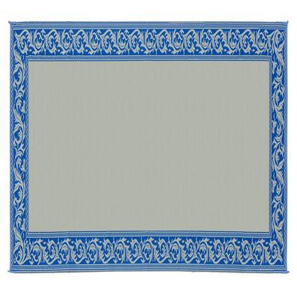 Patio Mat, Polypropylene, Classical Design, 8 x 20, Blue/Beige