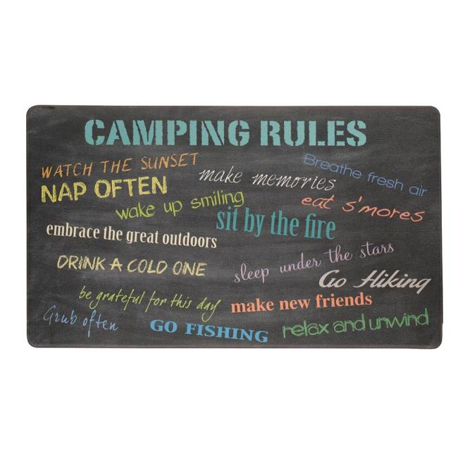 Image Anti Fatigue Kitchen Mat, Camping Rules. To Enlarge The Image, Click .
