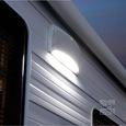 KING RV Media Outdoor Bluetooth Speaker & LED Awning Light, White
