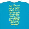 Womens Happy Camper Tee, Sapphire XL