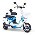 Crossover 2 Passenger Scooter, Blue/White