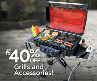 Save up to 40% on Grills and Accessories!